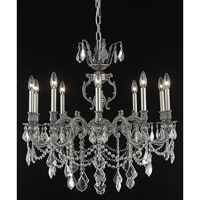 Elegant Lighting 9510D28PW/SS Marseille 10 Light 28 inch Pewter Dining Chandelier Ceiling Light in Clear, Swarovski Strass photo thumbnail