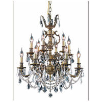 Elegant Lighting 9512D24AB/SS Marseille 12 Light 24 inch Antique Bronze Dining Chandelier Ceiling Light in Clear, Swarovski Strass alternative photo thumbnail