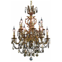 Elegant Lighting Marseille 12 Light Dining Chandelier in French Gold with Royal Cut Golden Teak Crystal 9512D24FG-GT/RC alternative photo thumbnail