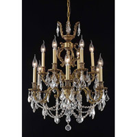 Elegant Lighting Marseille 12 Light Dining Chandelier in French Gold with Spectra Swarovski Clear Crystal 9512D24FG/SA