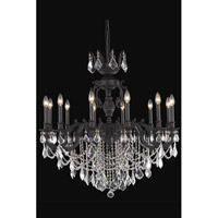 Elegant Lighting Marseille 12 Light Dining Chandelier in Dark Bronze with Spectra Swarovski Clear Crystal 9512D36DB/SA