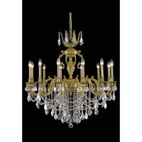 Elegant Lighting Marseille 12 Light Dining Chandelier in French Gold with Spectra Swarovski Clear Crystal 9512D36FG/SA
