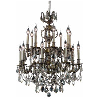 Elegant Lighting Marseille 16 Light Dining Chandelier in Antique Bronze with Royal Cut Golden Shadow Crystal 9516D28AB-GS/RC alternative photo thumbnail