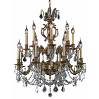 Elegant Lighting Marseille 16 Light Dining Chandelier in French Gold with Royal Cut Clear Crystal 9516D28FG/RC