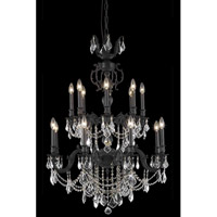 Elegant Lighting Marseille 16 Light Dining Chandelier in Dark Bronze with Elegant Cut Clear Crystal 9516D32DB/EC