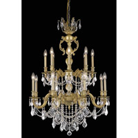 Elegant Lighting Marseille 16 Light Dining Chandelier in French Gold with Swarovski Strass Clear Crystal 9516D32FG/SS