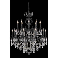 Elegant Lighting Marseille 20 Light Foyer in Dark Bronze with Elegant Cut Clear Crystal 9520G36DB/EC