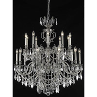 Marseille 20 Light 36 inch Pewter Foyer Ceiling Light in Clear, Elegant Cut