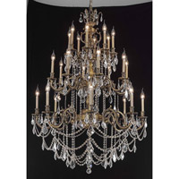 Elegant Lighting Marseille 24 Light Foyer in Antique Bronze with Elegant Cut Clear Crystal 9524G38AB/EC