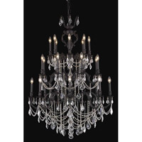 Elegant Lighting Marseille 24 Light Foyer in Dark Bronze with Royal Cut Clear Crystal 9524G38DB/RC
