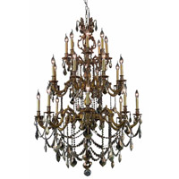 Elegant Lighting Marseille 24 Light Foyer in French Gold with Elegant Cut Clear Crystal 9524G38FG/EC