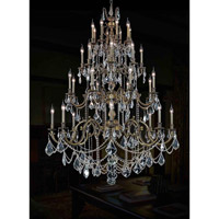Elegant Lighting Marseille 32 Light Foyer in Antique Bronze with Royal Cut Golden Shadow Crystal 9532G48AB-GS/RC