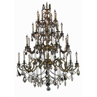 Elegant Lighting Marseille 32 Light Foyer in Antique Bronze with Elegant Cut Clear Crystal 9532G48AB/EC