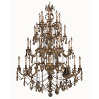 Elegant Lighting Marseille 32 Light Foyer in French Gold with Royal Cut Golden Teak Crystal 9532G48FG-GT/RC