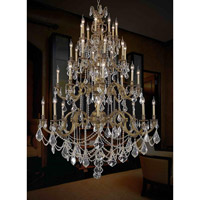 Elegant Lighting Marseille 32 Light Foyer in French Gold with Elegant Cut Clear Crystal 9532G48FG/EC