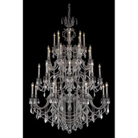 Elegant Lighting Marseille 32 Light Foyer in Pewter with Elegant Cut Clear Crystal 9532G48PW/EC