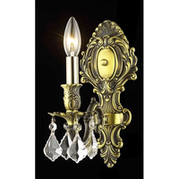 Elegant Lighting 9601W5AB/RC Monarch 1 Light 5 inch Antique Bronze Wall Sconce Wall Light in Clear, Royal Cut  alternative photo thumbnail