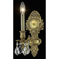 Elegant Lighting Monarch 1 Light Wall Sconce in French Gold with Swarovski Strass Clear Crystal 9601W5FG/SS alternative photo thumbnail