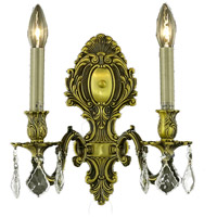 Elegant Lighting 9602W10AB-GS/RC Monarch 2 Light 10 inch Antique Bronze Wall Sconce Wall Light in Golden Shadow, Royal Cut alternative photo thumbnail