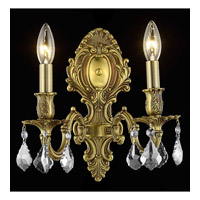 Elegant Lighting 9602W10FG/EC Monarch 2 Light 10 inch French Gold Wall Sconce Wall Light in Clear, Elegant Cut alternative photo thumbnail