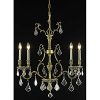 Elegant Lighting Monarch 4 Light Dining Chandelier in Antique Bronze with Royal Cut Clear Crystal 9604D26AB/RC alternative photo thumbnail