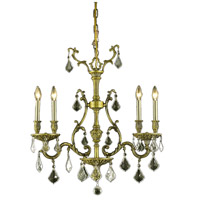 Elegant Lighting Monarch 4 Light Dining Chandelier in Antique Bronze with Swarovski Strass Golden Shadow Crystal 9604D26AB-GS/SS alternative photo thumbnail