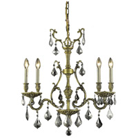 Elegant Lighting 9604D26AB-SS/SS Monarch 4 Light 6 inch Antique Bronze Dining Chandelier Ceiling Light alternative photo thumbnail