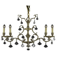 Elegant Lighting Monarch 4 Light Dining Chandelier in French Gold with Swarovski Strass Clear Crystal 9604D26FG/SS alternative photo thumbnail