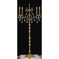 Elegant Lighting Monarch 4 Light Floor Lamp in French Gold with Swarovski Strass Golden Shadow Crystal 9604FL26FG-GS/SS photo thumbnail