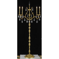 Elegant Lighting Monarch 4 Light Floor Lamp in French Gold with Swarovski Strass Clear Crystal 9604FL26FG/SS