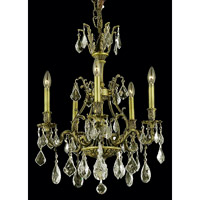 Elegant Lighting Monarch 5 Light Dining Chandelier in Antique Bronze with Royal Cut Golden Shadow Crystal 9605D21AB-GS/RC