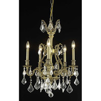 Elegant Lighting Monarch 5 Light Dining Chandelier in French Gold with Swarovski Strass Clear Crystal 9605D21FG/SS