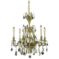Elegant Lighting Monarch 6 Light Dining Chandelier in Antique Bronze with Royal Cut Golden Shadow Crystal 9606D24AB-GS/RC alternative photo thumbnail