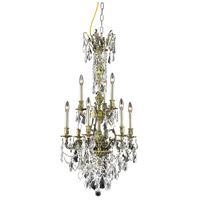 Elegant Lighting Monarch 9 Light Dining Chandelier in Antique Bronze with Swarovski Strass Clear Crystal 9609D21AB/SS alternative photo thumbnail