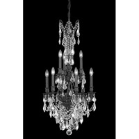 Elegant Lighting Monarch 9 Light Dining Chandelier in Dark Bronze with Elegant Cut Clear Crystal 9609D21DB/EC