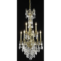 Elegant Lighting Monarch 9 Light Dining Chandelier in French Gold with Royal Cut Clear Crystal 9609D21FG/RC
