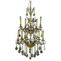 Elegant Lighting Monarch 10 Light Dining Chandelier in Antique Bronze with Swarovski Strass Golden Shadow Crystal 9610D26AB-GS/SS alternative photo thumbnail