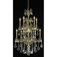 Elegant Lighting Monarch 10 Light Dining Chandelier in French Gold with Elegant Cut Clear Crystal 9610D26FG/EC