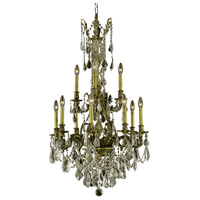 Elegant Lighting Monarch 12 Light Dining Chandelier in Antique Bronze with Royal Cut Golden Shadow Crystal 9612D25AB-GS/RC alternative photo thumbnail