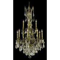 Elegant Lighting Monarch 12 Light Dining Chandelier in Antique Bronze with Royal Cut Golden Shadow Crystal 9612D25AB-GS/RC
