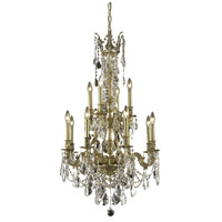 Elegant Lighting Monarch 12 Light Dining Chandelier in French Gold with Royal Cut Clear Crystal 9612D25FG/RC alternative photo thumbnail