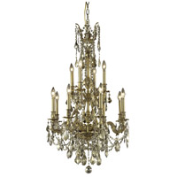 Elegant Lighting Monarch 12 Light Dining Chandelier in French Gold with Swarovski Strass Golden Teak Crystal 9612D25FG-GT/SS alternative photo thumbnail