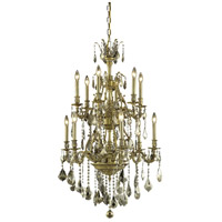 Elegant Lighting Monarch 12 Light Dining Chandelier in French Gold with Swarovski Strass Golden Teak Crystal 9612D27FG-GT/SS alternative photo thumbnail