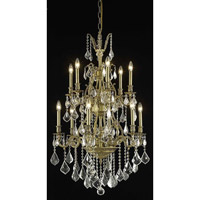 Elegant Lighting Monarch 12 Light Dining Chandelier in French Gold with Elegant Cut Clear Crystal 9612D27FG/EC
