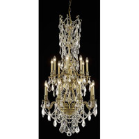 Elegant Lighting Monarch 16 Light Dining Chandelier in French Gold with Royal Cut Clear Crystal 9616D27FG/RC