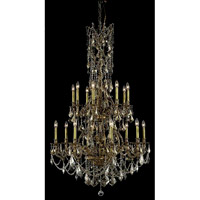 Elegant Lighting Monarch 16 Light Foyer in French Gold with Royal Cut Golden Teak Crystal 9616G37FG-GT/RC