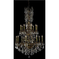 Elegant Lighting Monarch 16 Light Foyer in French Gold with Elegant Cut Clear Crystal 9616G37FG/EC