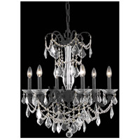 Elegant Lighting Athena 6 Light Dining Chandelier in Dark Bronze with Elegant Cut Clear Crystal 9706D23DB/EC