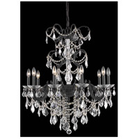 Elegant Lighting Athena 10 Light Dining Chandelier in Dark Bronze with Elegant Cut Clear Crystal 9710D29DB/EC