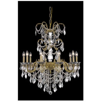 Elegant Lighting 9710D29FG/SS Athena 10 Light 29 inch French Gold Dining Chandelier Ceiling Light in Clear, Swarovski Strass